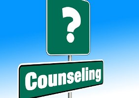 What should I study - image of a question mark and counselling sign