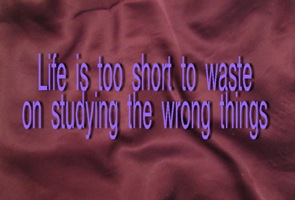 "Studying the wrong thing - Image of the words ""Life is too short to waste on studying the wrong things"" - main image"