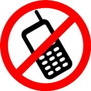 "Photo of a ""no cellphone"" sign"