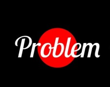 "Photo of the word ""problem"""