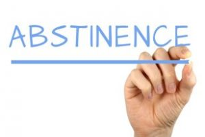 Image of the word Abstinence