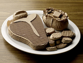 Cheap recipes: Image of cardboard food on a white plate