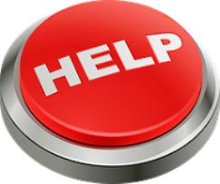 Suicide is not the answer - Image of a help button