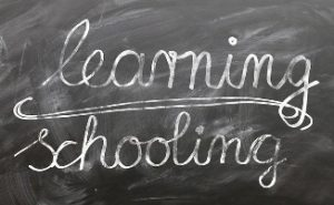 "Image of the words ""learning and schooling"""