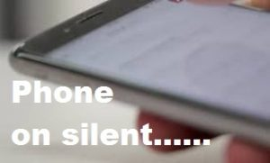 Suicide is not the answer - Image of a phone placed on silent