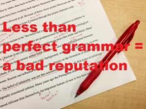 Why is grammar important? Less than perfect grammar image