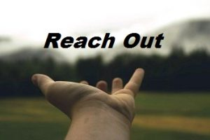Suicide is not the answer - Reach out image of a hand