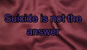 Suicide is not the answer - main image of title words