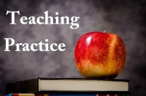 "How to not be taken advantage of during teaching practice image of an apple on a book with the caption ""Teaching Practice"""