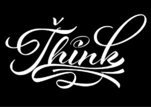 "Image of the word ""Think"""