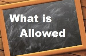 "How to not be taken advantage of during teaching practice image of the words ""What is Allowed"" written on a blackboard"