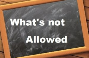 "How to not be taken advantage of during teaching practice image of the words ""What's not Allowed"" written on a blackboard"